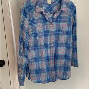 Jcrew perfect shirt size large